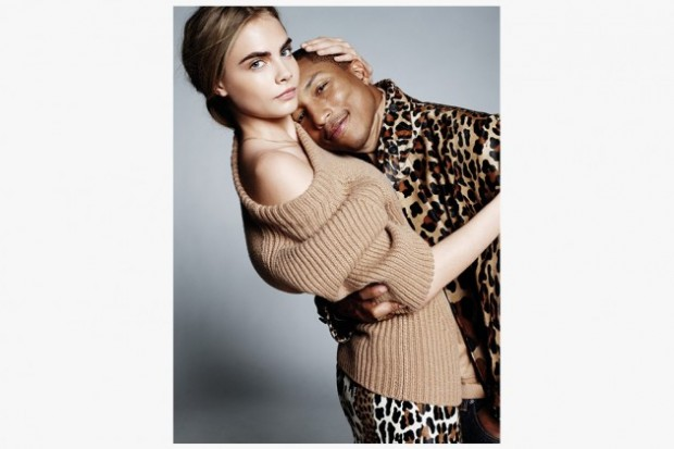 pharell cara delevigne vogue 3