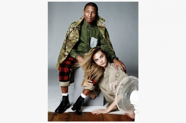 pharell cara delevigne vogue 5