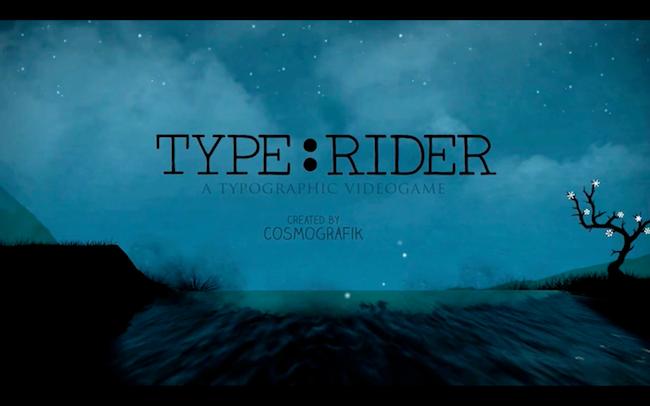 TYPERIDER jeu video typographique 9