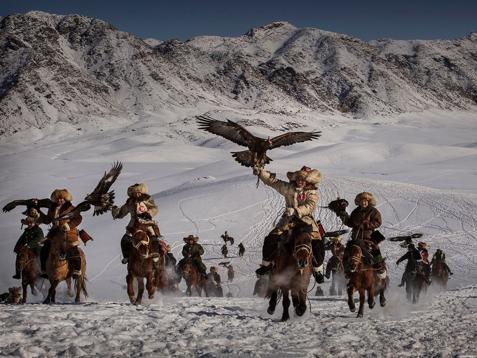 Eagle Hunters of Western China par Kevin Frayer.