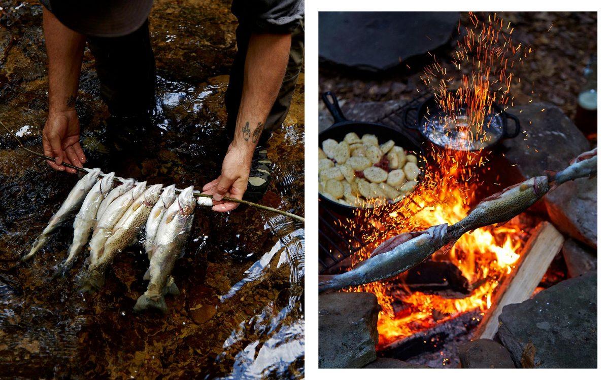 Truites BBQ fly fisher gestalten