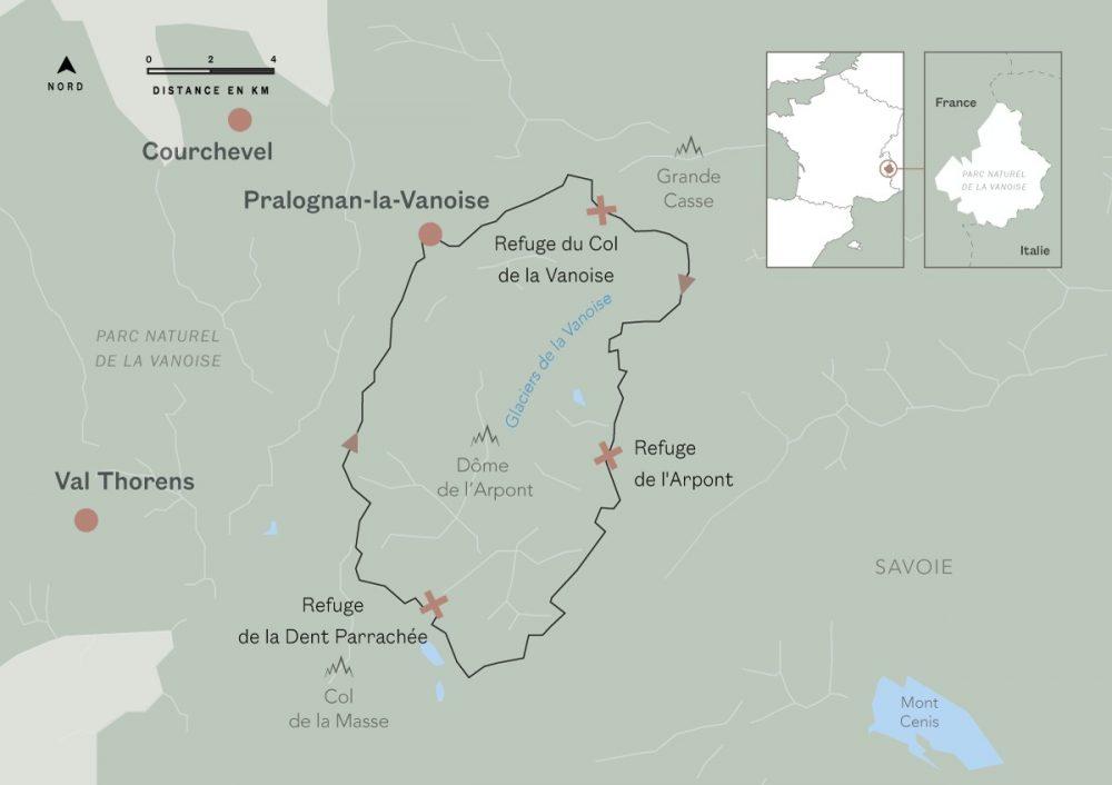 Le Tour des glaciers de la Vanoise : itinéraires de randonnée