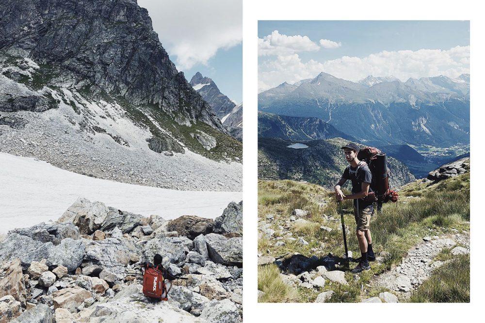 Tout le long du Tour des glaciers de la Vanoise, les sommets vous font face.