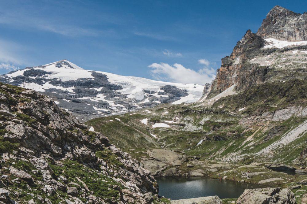 Le Tour des glaciers de la Vanoise : vue sur le lac Rond