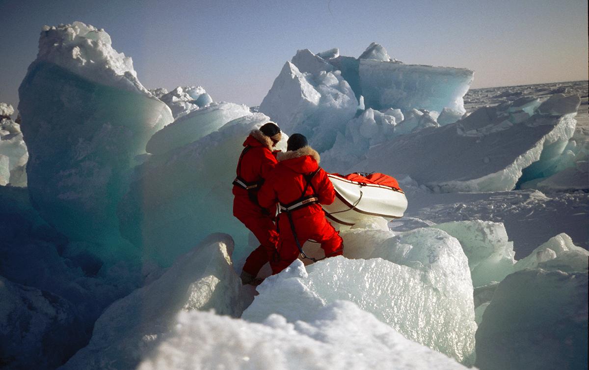 Francois Bernard expedition pole Nord cap Arktichevsky Les Baladeurs