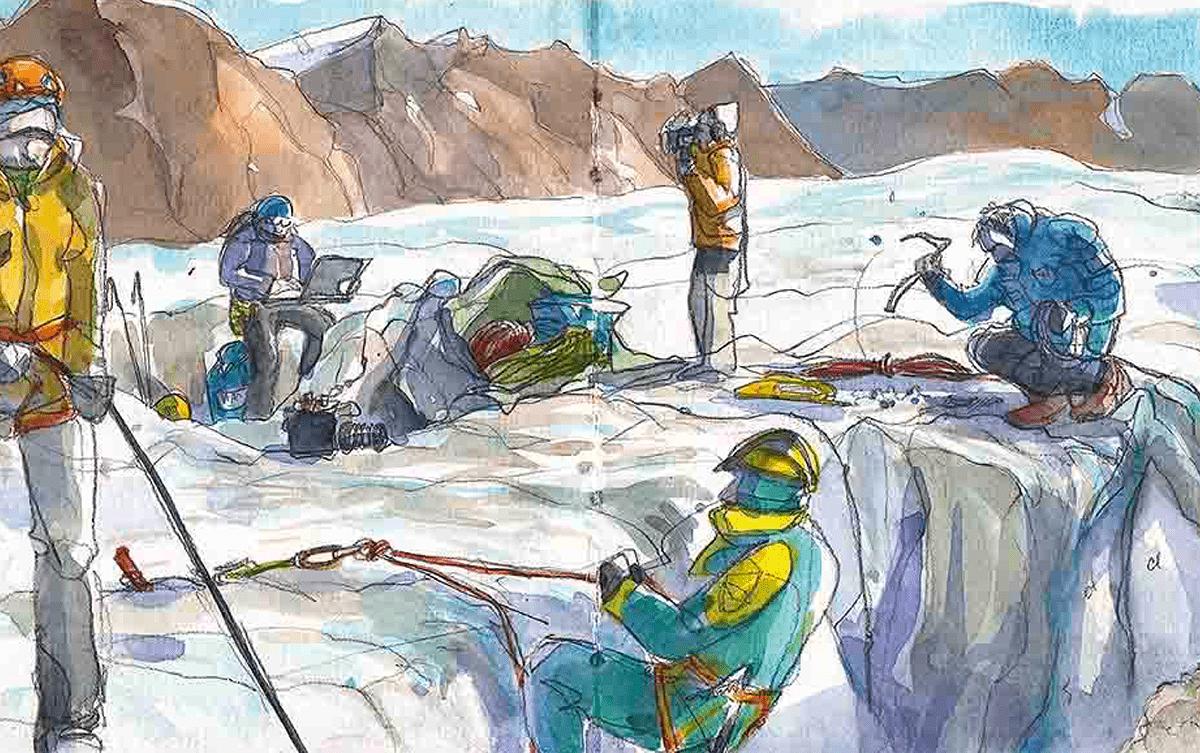 Aurélie Calmet dessinatrice Groenland Les Baladeurs