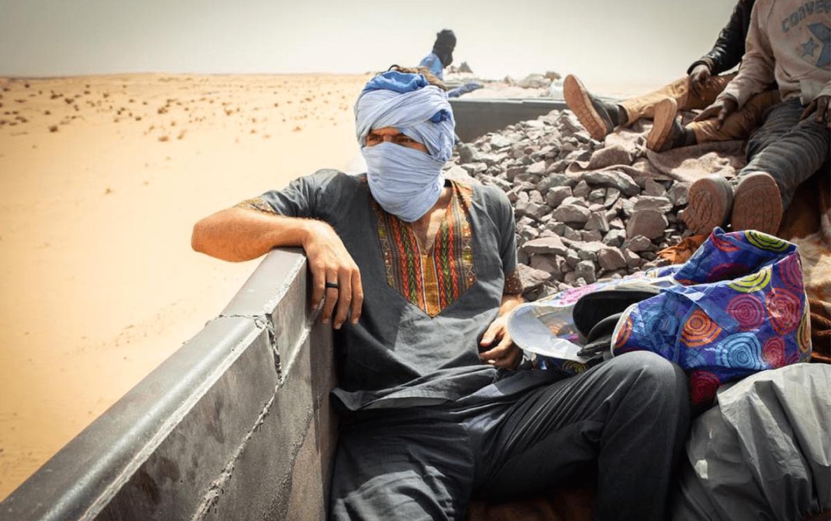 Léo Coulongeat train désert Sahara Ouira Les Baladeurs