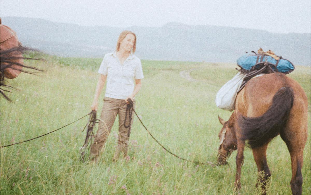 Tessa de-Baudinière Kathrin Hoecke cavaliere Caucase Les Baladeurs
