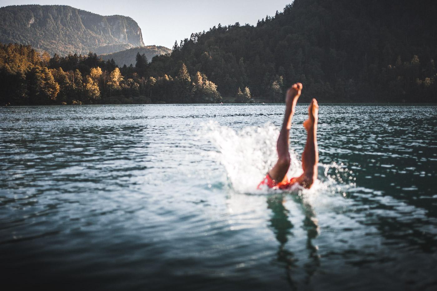 Se baigner dans les lacs de Slovénie