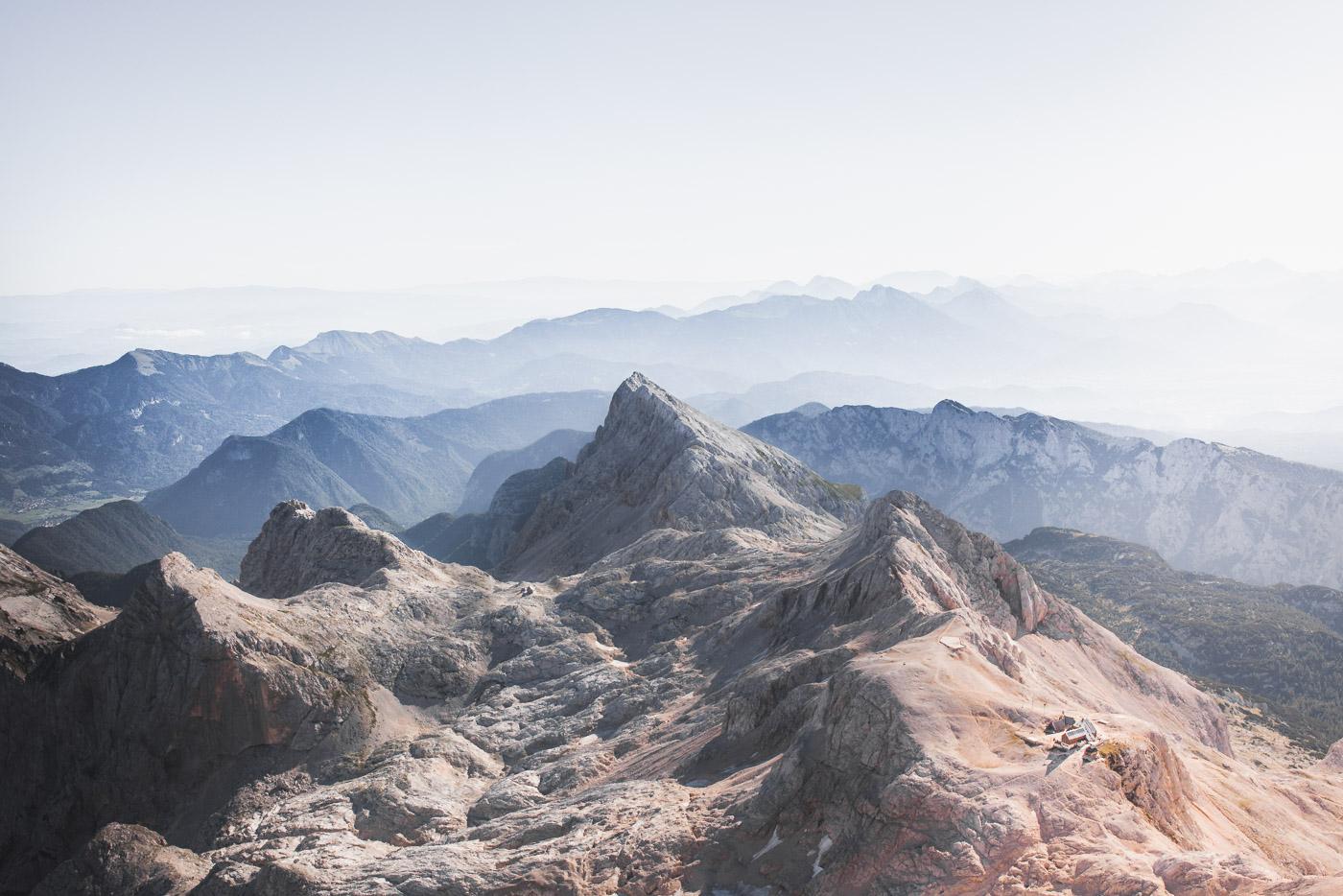 Au sommet du Triglav, point culminant de Slovénie