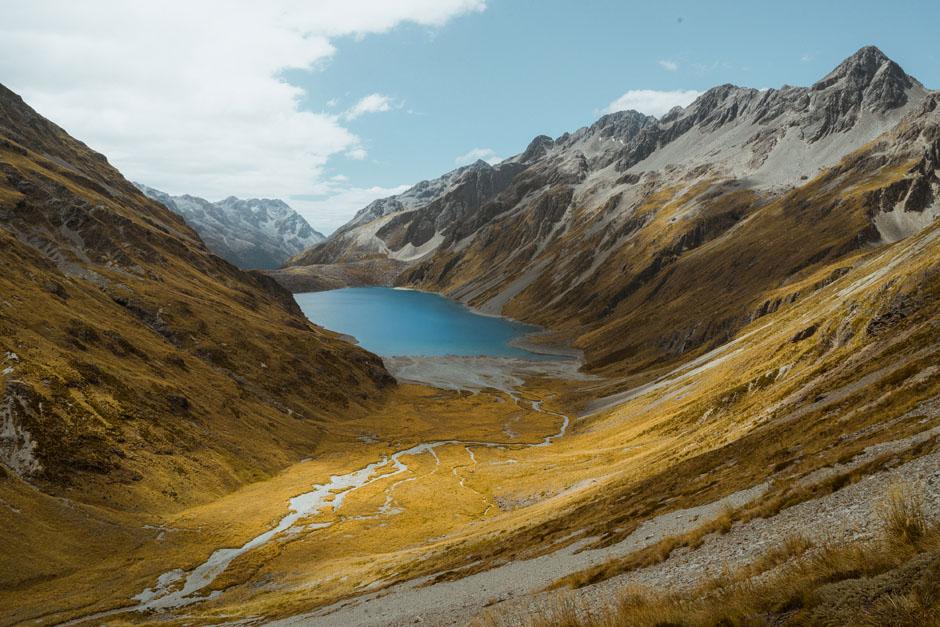 Le parc national deNelson Lakes sur le Te Araroa Trail en Nouvelle-Zélande