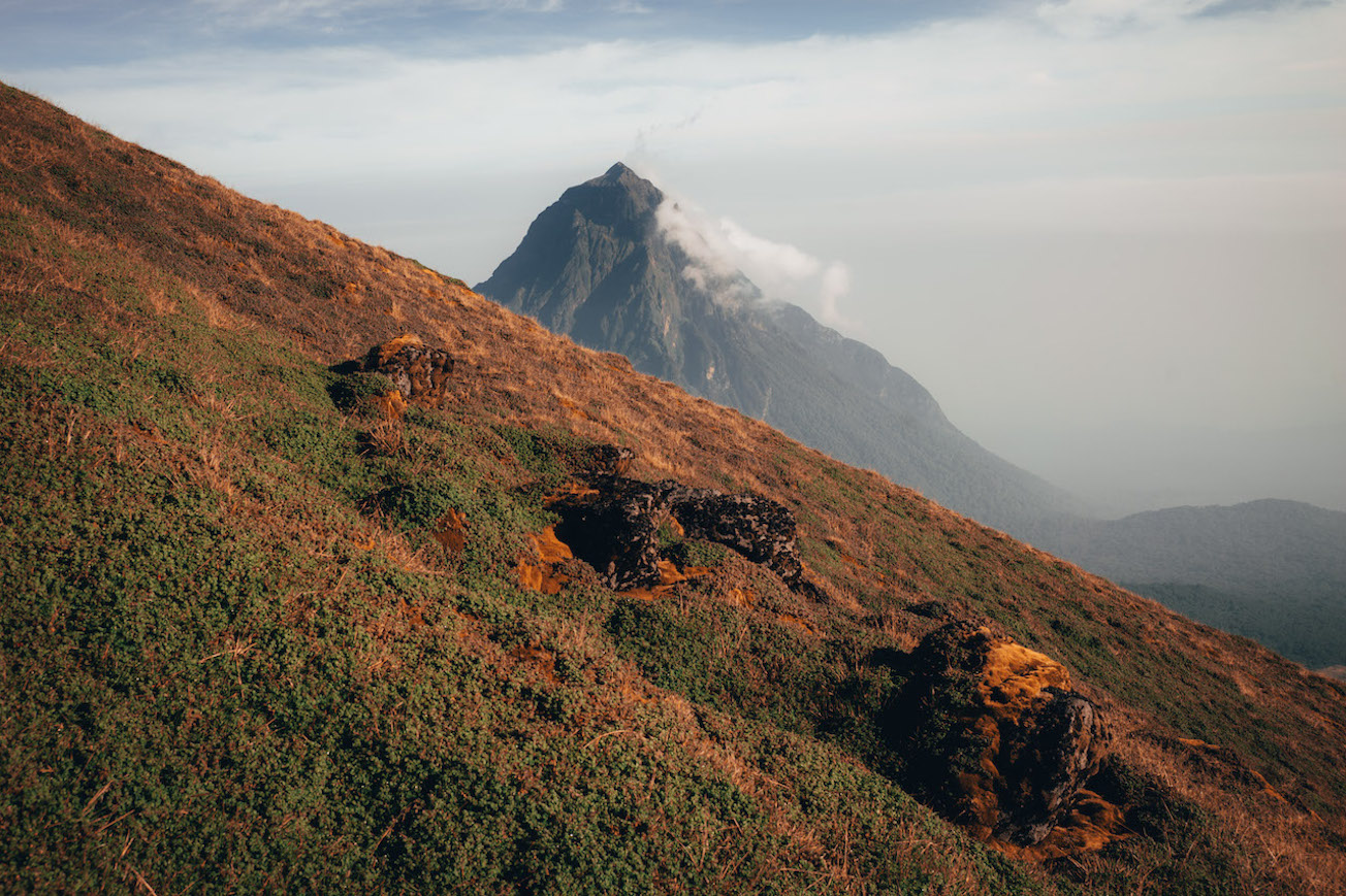 L'ascension du volcan Karisimbi au Rwanda.